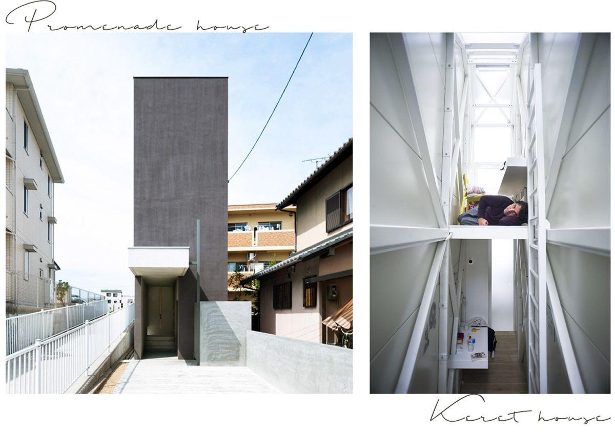 Qual è la casa più stretta del mondo, la Promenade house in Giappone (a sinistra) o la Keret house in Polonia (a destra)?