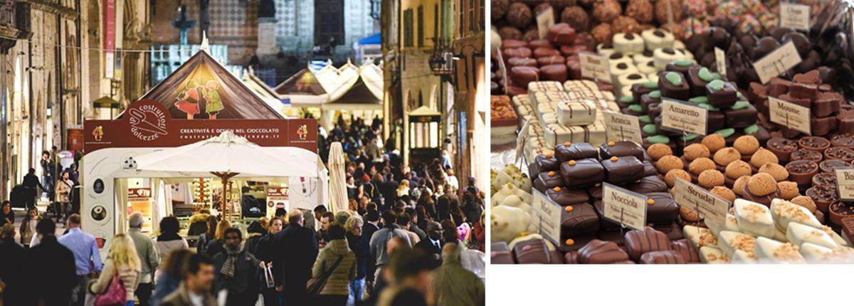 Si avvicina l'edizione 2018 di Eurochocolate, il festival del cioccolato a Perugia