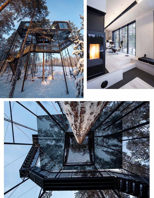 7th room di Snohetta, la casa sull'albero nella foresta svedese