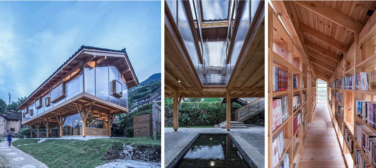 La biblioteca progettata dallo studio Shulin Architectural Design in Cina