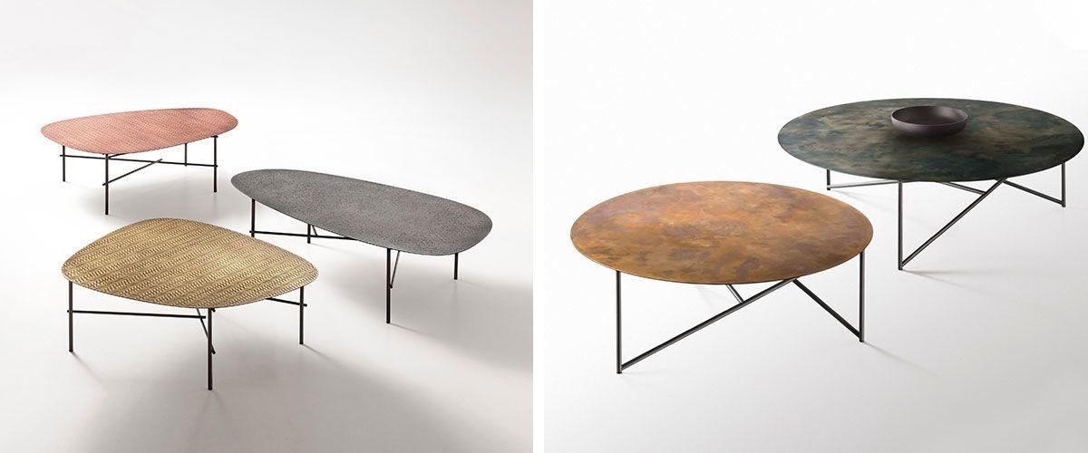 tavolini Syro XL e Tavolino Persec di DeCastelli