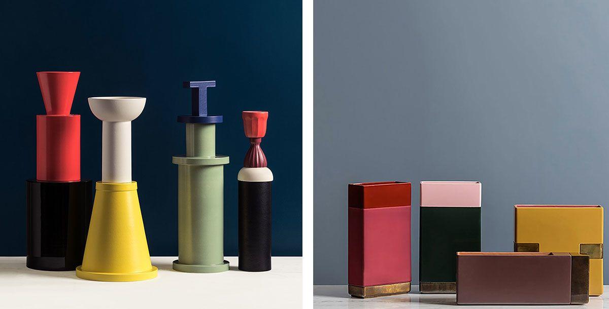 Scultura F.2 Design Natalie Du Pasquier by Bitossi Ceramiche & Vaso Design Dimorestudio by Bitossi Ceramiche