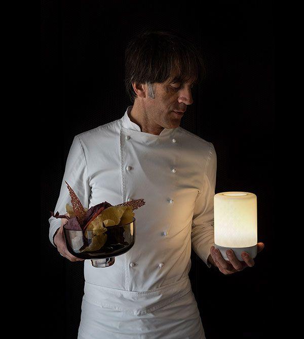 Davide Oldani, ideatore della cucina pop. Le più autorevoli guide gastronomiche lo annoverano fra i grandi chef della cucina italiana.