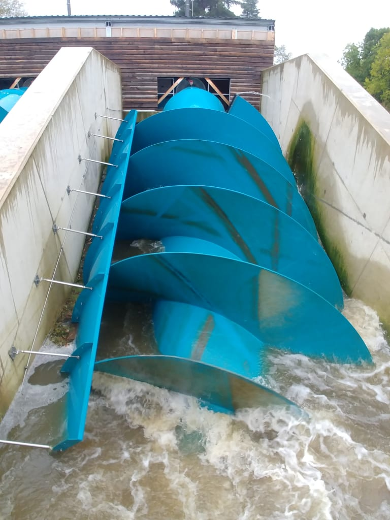 Sandford Hydro Archimedes screw