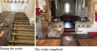 Installing underfloor heating at St Andrews Church
