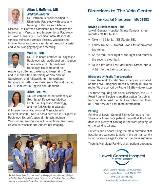 Brochures // Lowell General Hospital