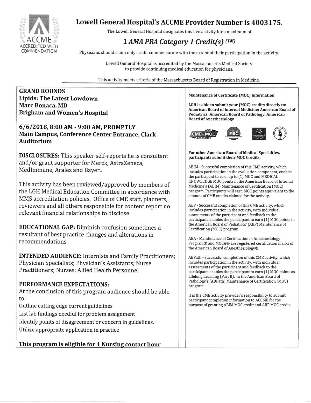 Lipids: The Latest Lowdown // Lowell General Hospital