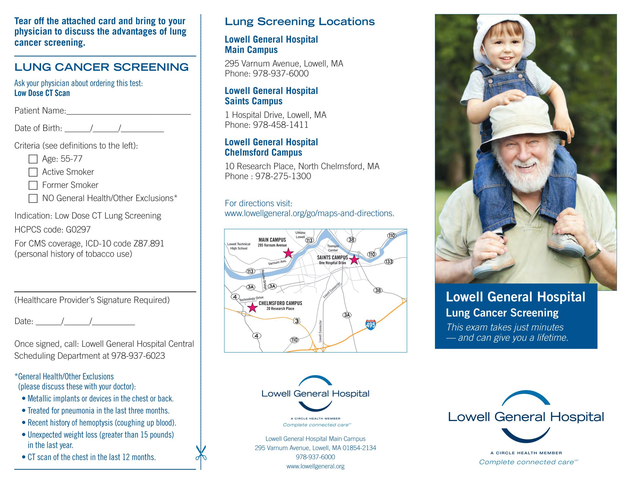 Lung Cancer Screening brochure