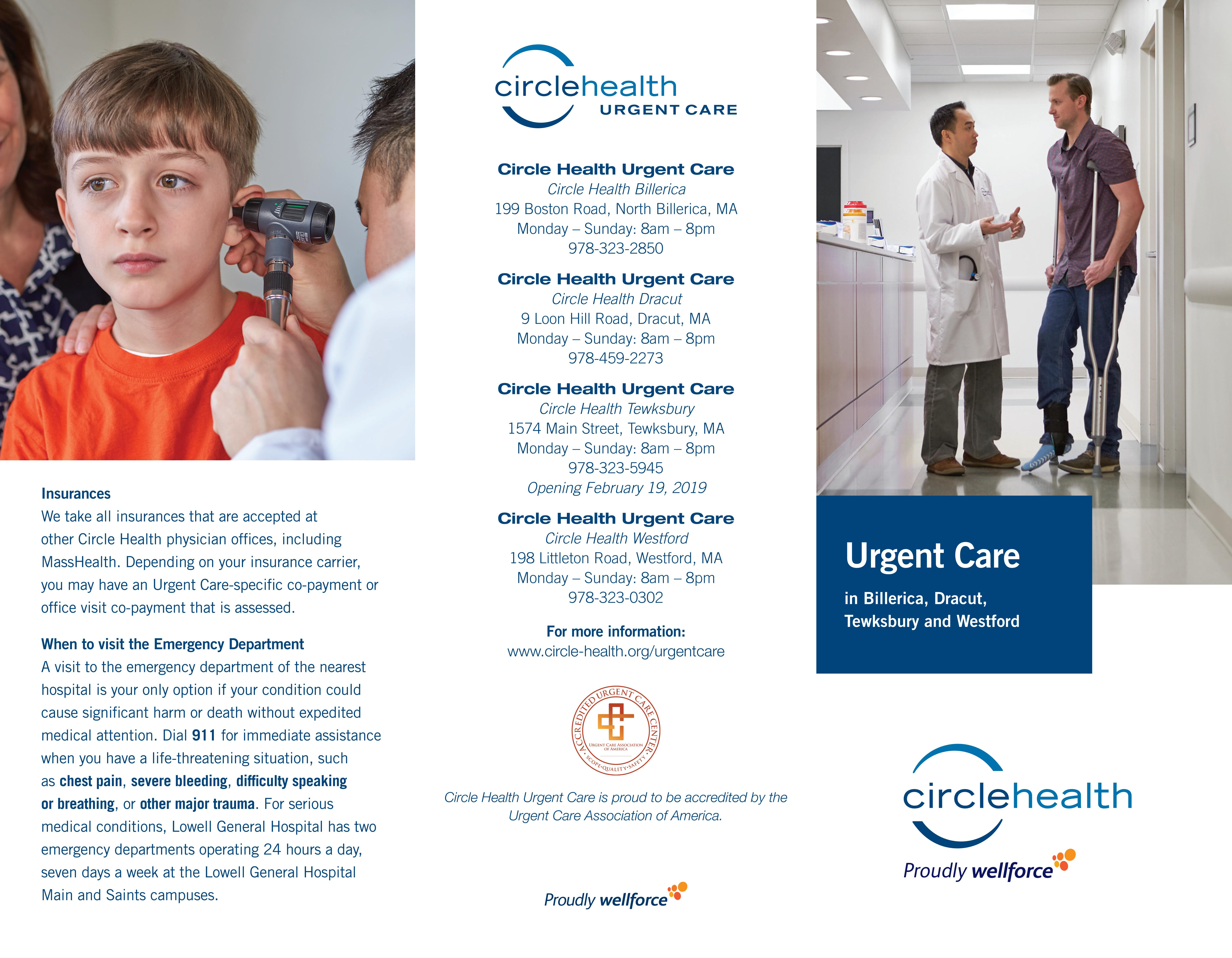 Circle Health Urgent Care Brochure