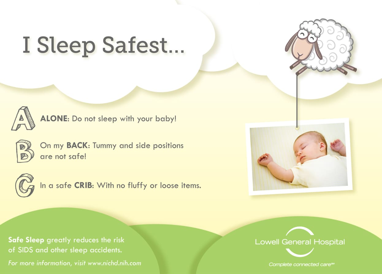 Safe Sleep Hospital Crib Card