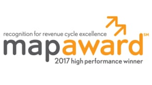 2017 MAP Award  for High Performance in Revenue Cycle