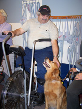 Cardiac Rehab patient with Abbey