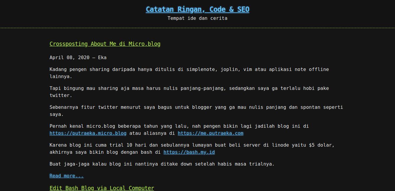 tampilan hacker theme untuk bash blog