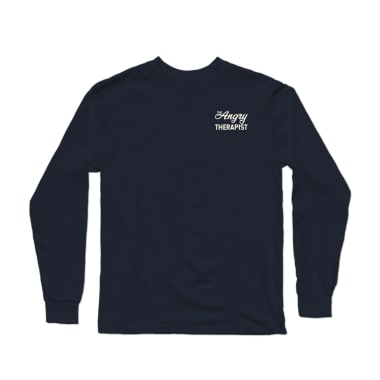 The Angry Therapist Script Longsleeve Shirt