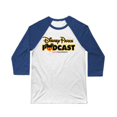 Disney Parks Podcast Logo wear Baseball Tee
