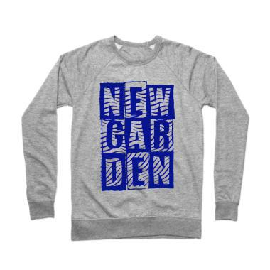 Newgarden Blue Waves Crewneck Sweatshirt