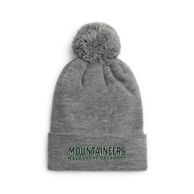 Wachusett Lacrosse Mountaineers Text Winter/Beanie Hats