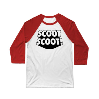 Scoot Scoot (Text) Baseball Tee