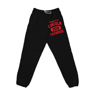 Property of Lincoln Lax 2018 Sweatpant