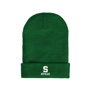 MSU Lacrosse Vintage White Winter/Beanie Hats