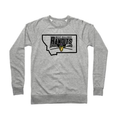 West Billings Bandits State Pride Crewneck Sweatshirt