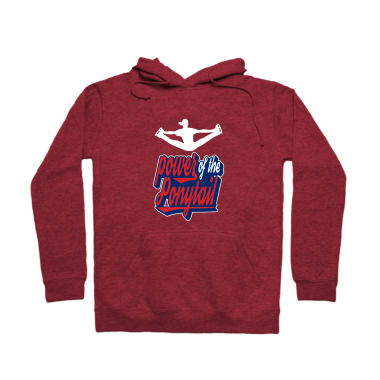 Power Of The Ponytail Pullover Hoodie