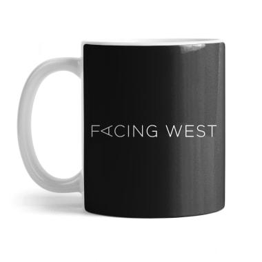 Facing West (White Logo) Mug