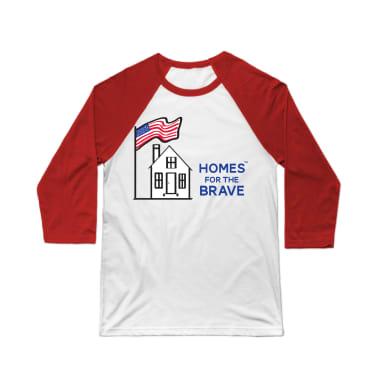 Homes For The Brave Baseball Tee