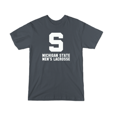 MSU Lacrosse Vintage White T-Shirt