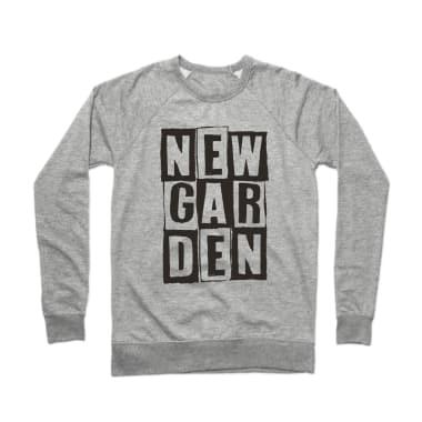 Newgarden Black Stacked Crewneck Sweatshirt