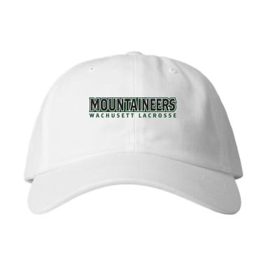 Wachusett Lacrosse Mountaineers Text Baseball Style Hats