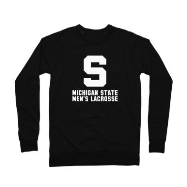 MSU Lacrosse Vintage White Crewneck Sweatshirt