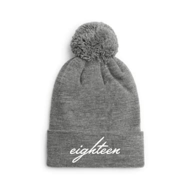 Eighteen Cursive Winter/Beanie Hats