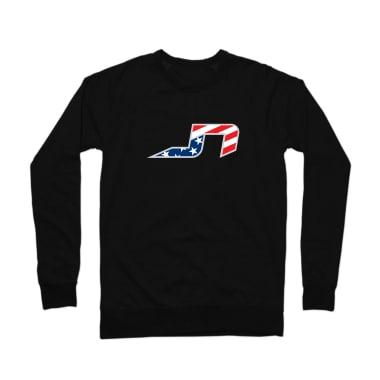 JN Stars and Stripes Plain Crewneck Sweatshirt