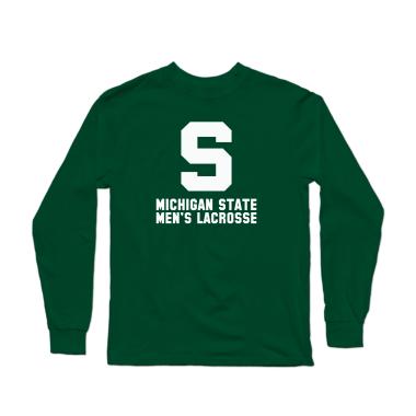 MSU Lacrosse Vintage White Longsleeve Shirt