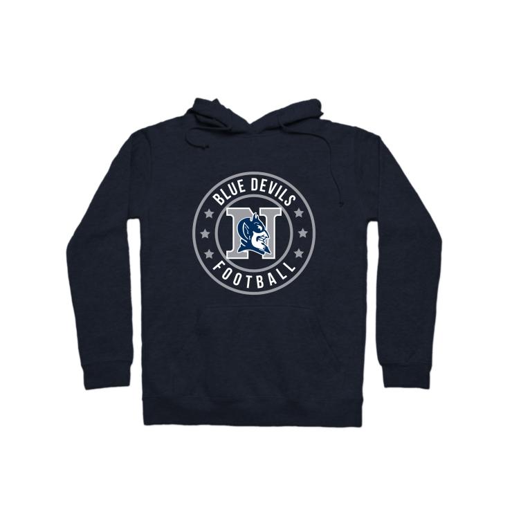 Blue Devils Football Badge Pullover Hoodie
