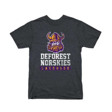 DeForest Norskies Lacrosse (Weathered) T-Shirt