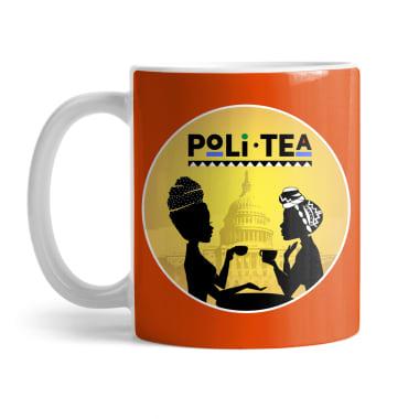 PoliTea Logo Mug and Travel Mug