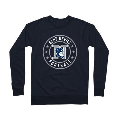 Blue Devils Football Badge Crewneck Sweatshirt