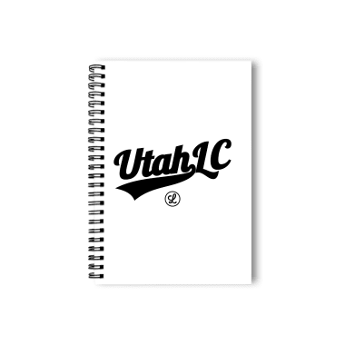 Utah Logo Black Notebook
