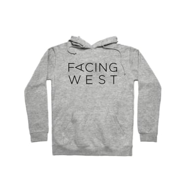 Facing West Stacked (Black) Pullover Hoodie
