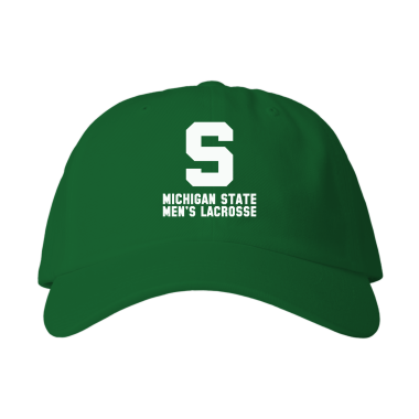 MSU Lacrosse Vintage White Baseball Style Hats