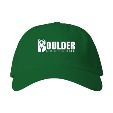 Boulder Lacrosse Wordmark Baseball Style Hats
