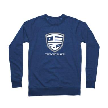 Denver Elite Blue Line Crewneck Sweatshirt