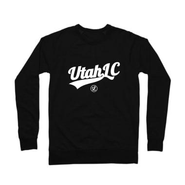 Utah Logo White Crewneck Sweatshirt