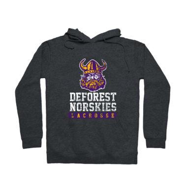 DeForest Norskies Lacrosse (Weathered) Pullover Hoodie