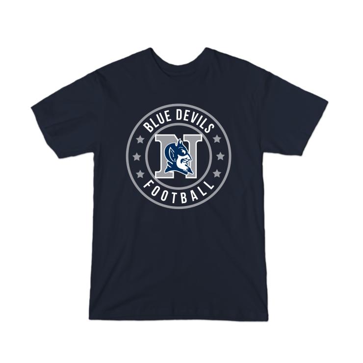 Blue Devils Football Badge Youth T-Shirt