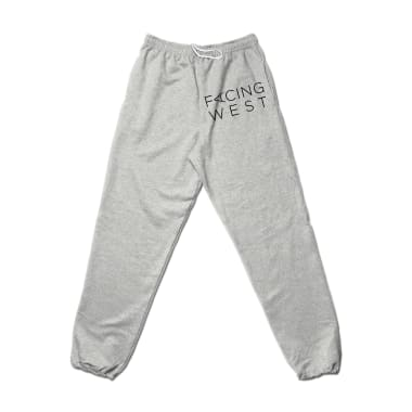 Facing West Stacked (Black) Sweatpant