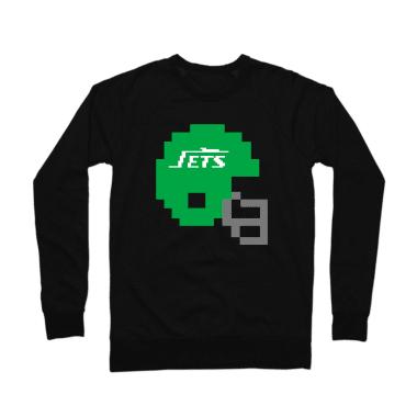 Jets Helmet Crewneck Sweatshirt