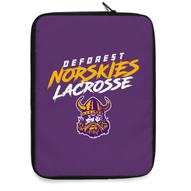 DeForest Norskies Lacrosse Laptop Sleeve